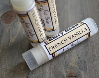 French vanilla lip balm, bath and beauty, lip butter, lib balm, paraben free, cruelty free, made with beeswax