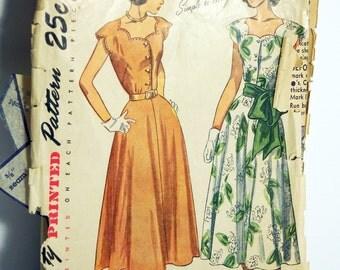 1948 Simplicity 2509 Dress