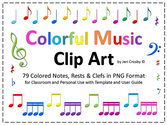 Colorful Music Notes, Rests, & Symbols - 79 High-Resolution Clip Art ...