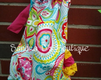 Bright baby bubble romper