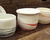 Items Similar To Ceramic Porcelain Lidded Jar Handmade