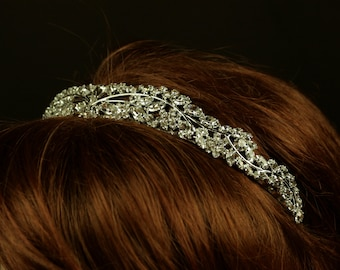 Wedding Tiara - Rhinestone Tiara - Saira Bridal Tiara with Bohemian Rhinestones - Bridal Hair - Wedding Jewelry - Diadem - Crystal Tiara