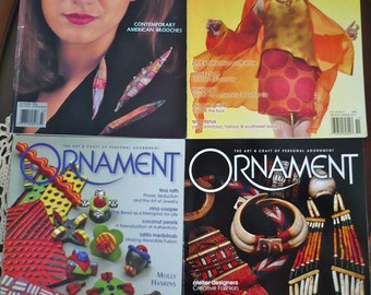 LOT of 4 Ornament Magazines Autumn 1994, 2005, Winter 04/05,  2004