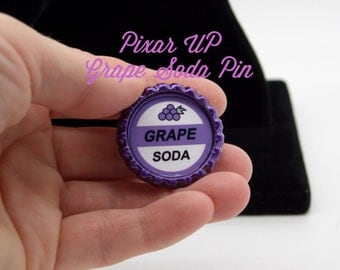 Grape Soda Pixar Up Inspired Pin Rose Gold Backing and Pin