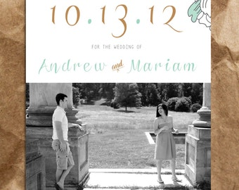 Playful and Fun Couple's Save the Date