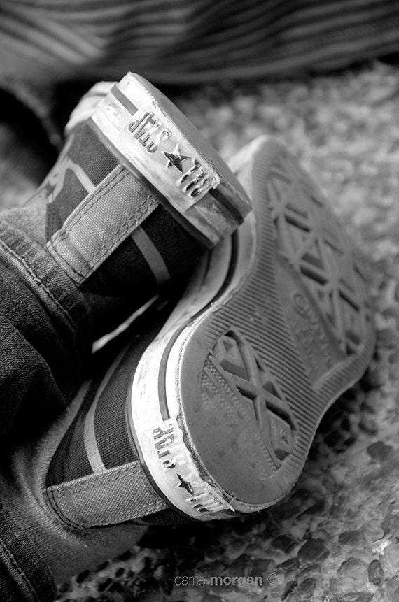 black and white shoe photography converse fine art converse
