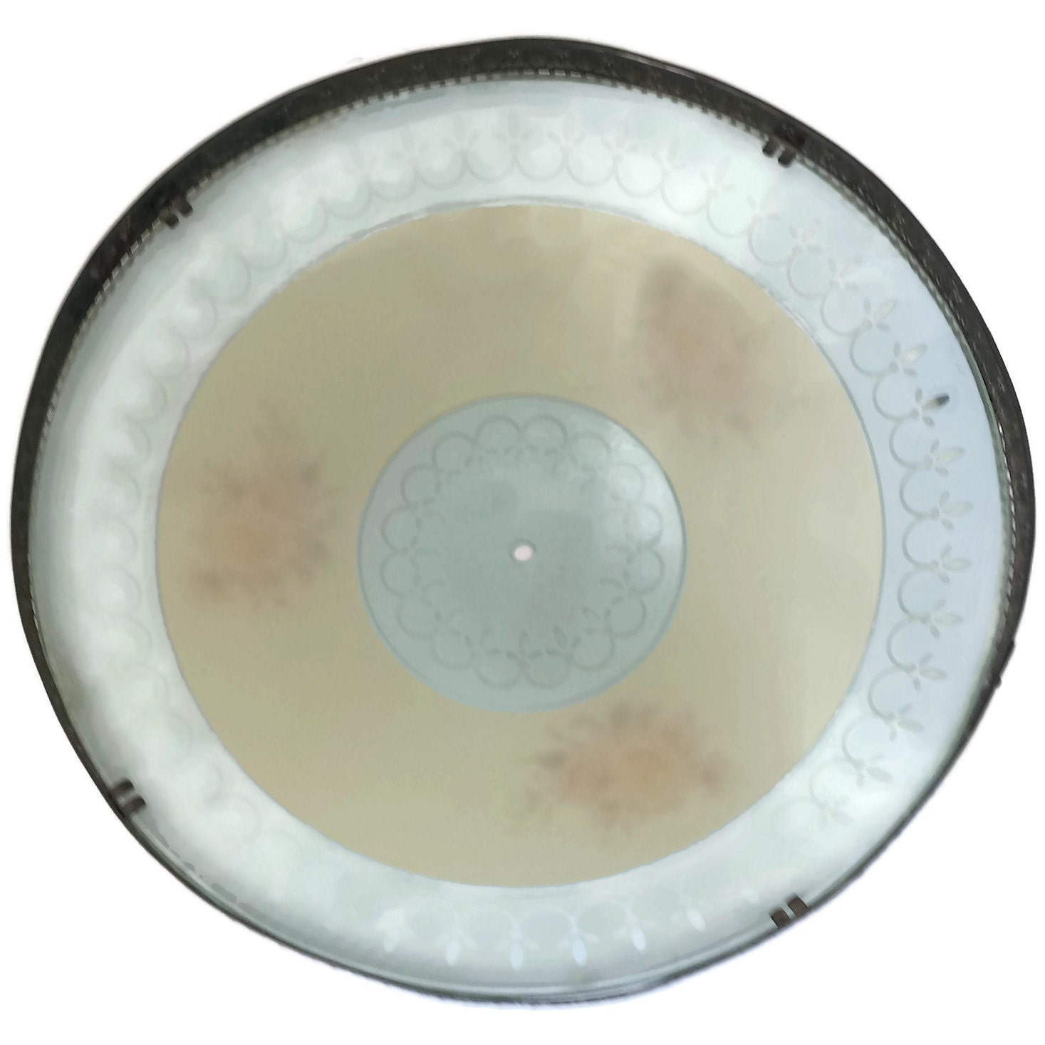Ceiling Light Cover Only : Glass shade overhead ceiling dome light cover by