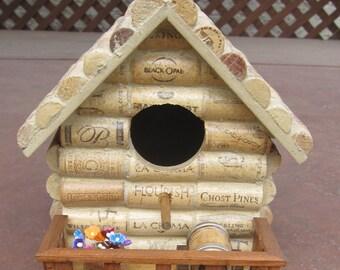 Wine Cork Birdhouse - Handmade