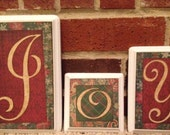 Joy, Christmas Decor, Decorative Blocks, Christmas, Holidays, Fireplace, Joy sign