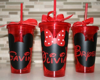 Mickey Mouse or Minnie Mouse 16 ounce double walled tumbler