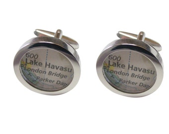 Lake Havasu Map Cufflinks