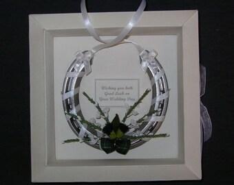 Bridal wedding lucky real horseshoe in SCOTTISH THEME