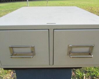 LIBRARY FILE CABINET, Index File cabinet, Metal file cabinet, Vintage File Cabinet, Storage Box, Metal File Cabinet