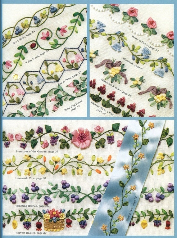ENCYCLOPEDIA Of RIBBON Embroidery BORDERS Pattern Book How