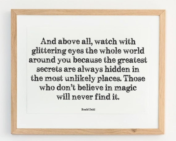 roald dahl quote print children 39 s book quotes by