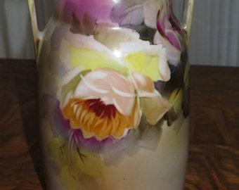 Vintage 1920's Nippon Vase , Floral Motif