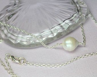 Peacock Freshwater Pearl Necklace Stick Pearl Necklace