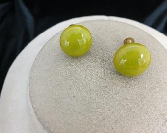 Vintage Green Plastic Earrings