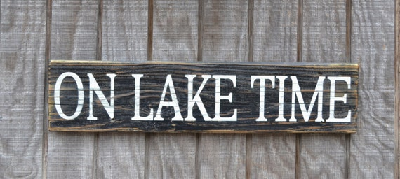 Lake Signs Wall Decor : Lake house decor rustic sign on by carovabeachsignco