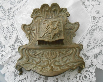Art nouveau inkwell french 1910