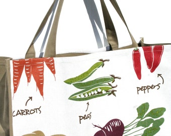 Organic Produce Farmers Market Bag - Vegetables - Marketing Tote