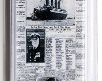 "Titanic Coal Mini ""NY TIMES"" 100th Anniversary W/ coa Authentic Memorabilia"