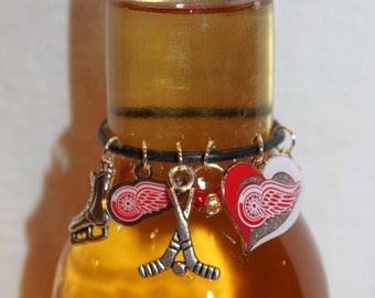 Detroit Red Wings Beer Bottle Marker Red Wings Charms Hockey Charms