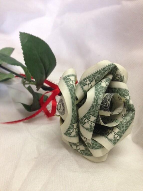 Handcrafted Single Money Origami Rose - photo#26