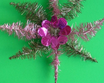 Vintage, Real Metal Tinsel, Christmas, Star, Tree Top ***
