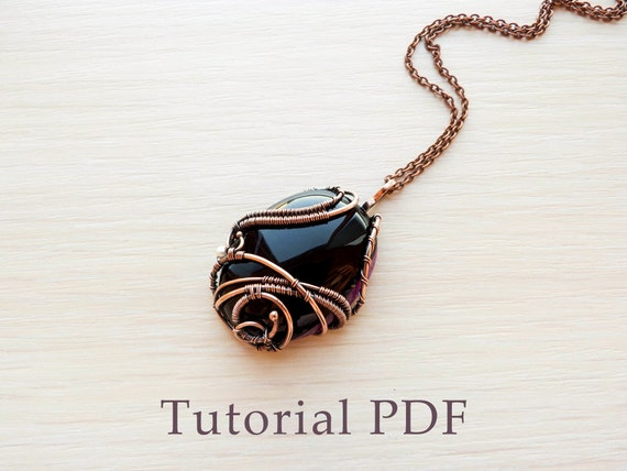 Wire wrapped pendant without soldering tutorial wire wrap wire wrapped pendant without soldering tutorial wire wrap diy project pendant with cabochon aloadofball Choice Image