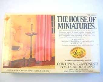 Miniature Candle Stand, Dollhouse Candle Stand, Miniature Kit, Dollhouse Kit Miniature Furniture Dollhouse Furniture Kit Miniature Furniture