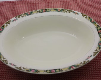 "Vintage Mount Clemens Pottery Company - 10"" Oval Serving Dish or Bowl - Pattern 932C - 1920s"