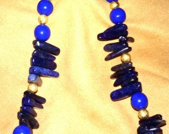 Lapis Lazuli Necklace~Beaded Jewelry~SomethingXquisite Jewelry~Ethnic Jewelry~Necklaces~Custom Necklace~Ladies Jewelry~Handmade Jewelry