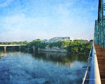 Chattanooga Photography, Wall Art, Tennessee River, Hunter Art Museum, Home Decor, Blue, Prints and CANVAS Available