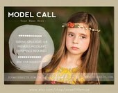 Model Call template - photography casting call - 5x7 marketing template