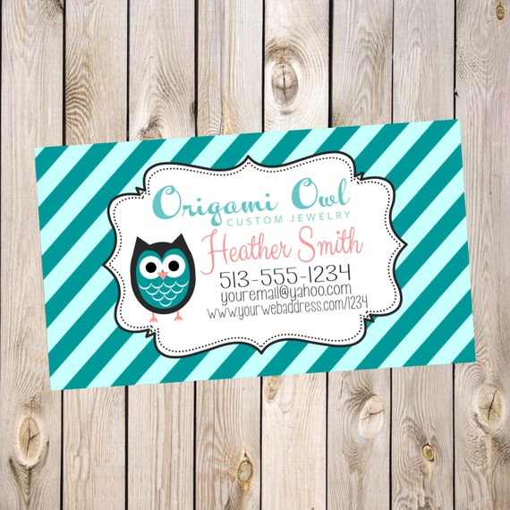 Unavailable listing on etsy for Owl business cards
