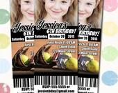 Softball Birthday Party Invitation Ticket Style You Print Digital File