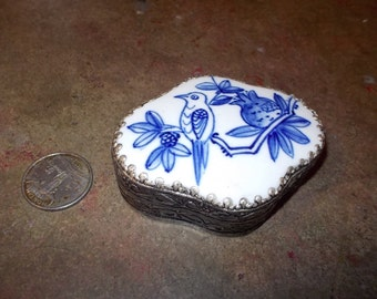 Vintage Silver Trinket Treasure Box