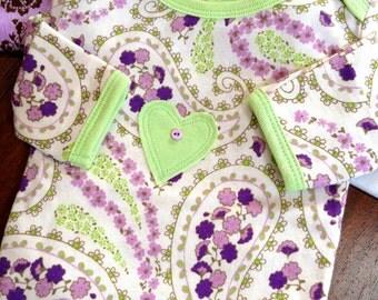 Organic Baby Clothes Paisley Pajama Sack