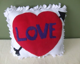 love pillow, large throw pillow, Valentine's Day gift, home decor, decorative pillow, heart pillow