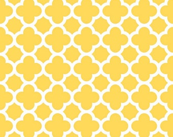 1/2 yard Quatrefoil Cottons by Riley Blake yellow