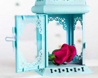 Holiday Gifts Candle Holder Turquoise Lantern Unique Vintage Scheherazade Exotic Moroccan Decor Filigree Pastel Blue Beach Wedding
