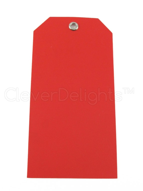 200 Red Plastic Tags 4 75 Quot X 2 375 Quot Tear Proof And