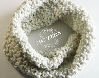 CROCHET PATTERN - Chunky Infinity Snood Pattern, Chunky Cowl Pattern, Chunky Snood Pattern, Mobius (Toddler, Youth & Adult Sizes) pdf #008S