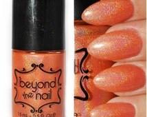 Solar Flare - Summer Galaxy Nail Polish - Neon Orange and Holographic