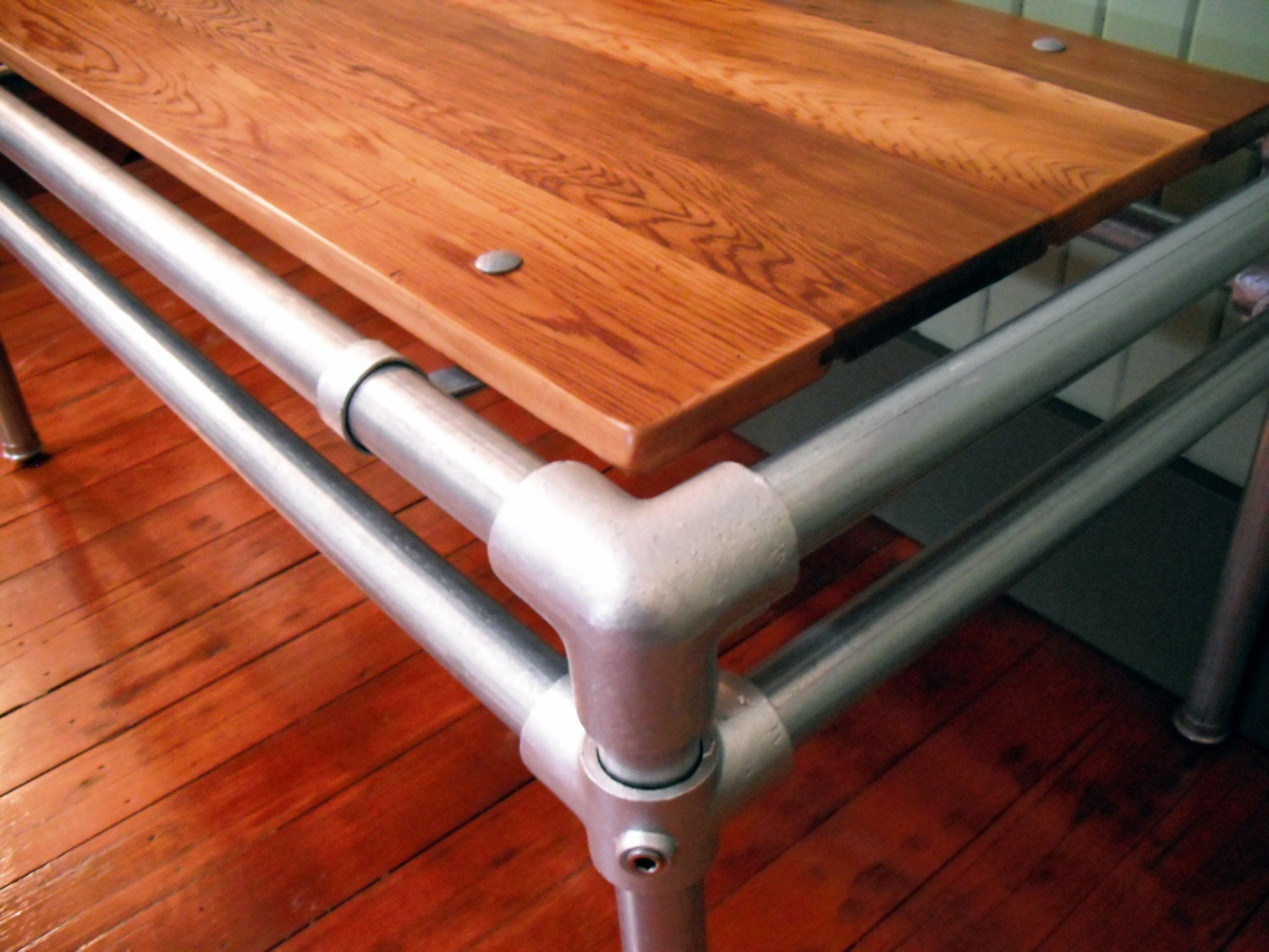 Coffee Table Reclaimed Wood Furniture Galvanized Pipe