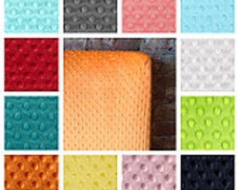 Solid color minky fitted crib sheet