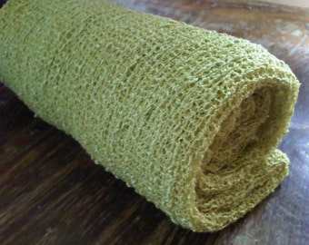 Stretch knit wrap - swaddle wrap - photo prop - cocoon - babyblanket - knit scarf - baby sling - lemongrass