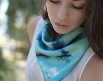 Gavroche-Silk scarf - 50x50 cm- Made in France - Limited edition-Handmade luxury-