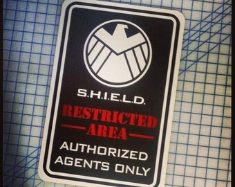"SHIELD - Agents Only 12""x18"" Aluminum Sign"